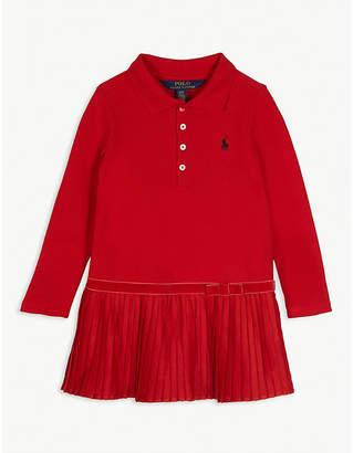 Ralph Lauren Pleated logo cotton-blend polo dress 2-4 years
