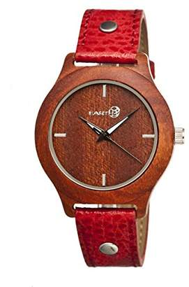 Earth Women's 'Tannins' Quartz Wood and Leather Watch