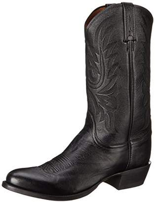 Lucchese Bootmaker Men's Carso-blk Lonestar Calf Cowboy Riding Boot