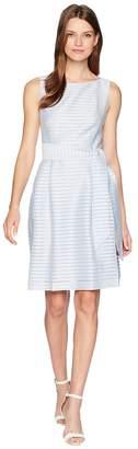 Anne Klein Fit Flare Dress with Sash Women's Dress