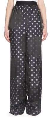 Maison Margiela Dots Jacquard Wide-Leg Pants