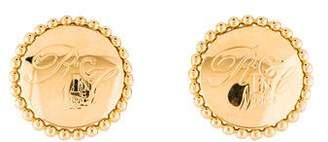 Nina Ricci Engraved Clip-On Earrings