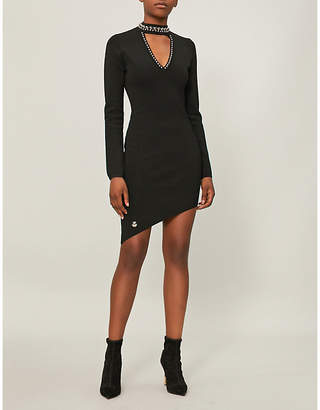 Philipp Plein Studded stretch-crepe dress