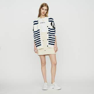 Maje Striped cardigan embroidered