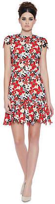 Alice + Olivia (アリス オリビア) - Alice+olivia Imani Cap Sleeve Fit Flare Dress