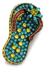 Heidi Daus Swarovski Crystal Flip-Flop Pin