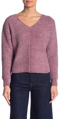 Absolutely Cotton V-Neck Chenille Sweater