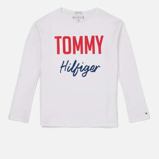 875c61dec Tommy Hilfiger Girls' Essential Two Colour Long Sleeve T-Shirt