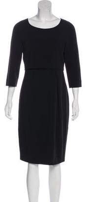 Max Mara Weekend Pleated Knee-Length Dress Black Weekend Pleated Knee-Length Dress
