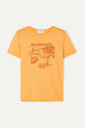 Solid & Striped Re/done Woodstock Printed Cotton T-shirt - Yellow