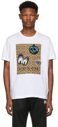 Coach 1941 White Disney Edition Patches Signature T-Shirt