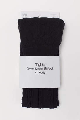 H&M Over-the-knee Look Tights - Black