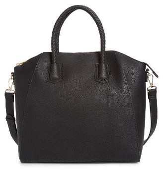 Sole Society Giada Braided Faux Leather Satchel - Black $69.95 thestylecure.com