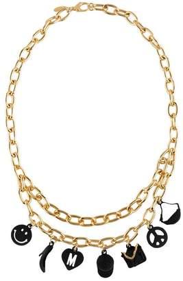 Moschino Choker Necklace in Black Calfskin 5T4fx9Ciw