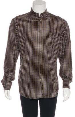Luciano Barbera Plaid Button-Up Shirt