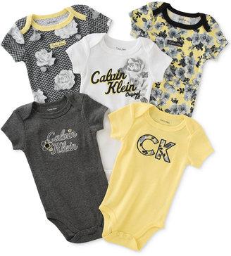 Calvin Klein Baby Girls' 5-Pk. Floral Bodysuits $42 thestylecure.com