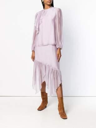 See by Chloe asymmetric midi skirt