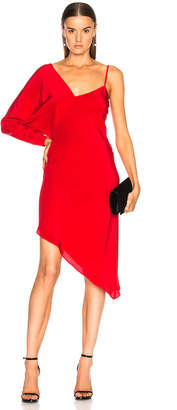 Michelle Mason Asymmetrical One Shoulder Dress