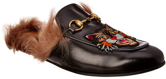 b45bd89cde12 Gucci Princetown Angry Cat Leather Slipper