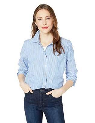 J.Crew Mercantile Women's Long-Sleeve Striped Shirt,M