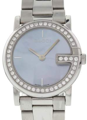 Gucci 101L Stainless Steel with Diamond Quartz 28mm Womens Watch