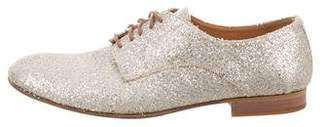 Maison Margiela Glitter Round-Toe Oxfords