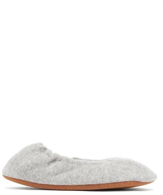 Skin - Elasticated Cashmere Slippers - Womens - Light Grey