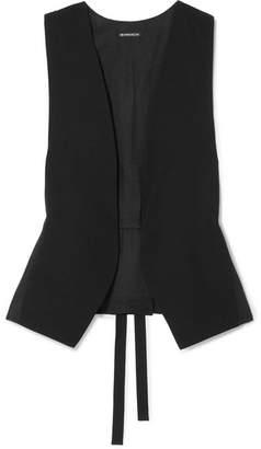 Ann Demeulemeester Belted Wool-gabardine Vest - Black