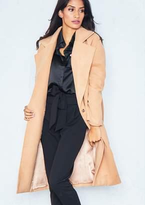 Missy Empire Missyempire Priah Camel Longline Coat