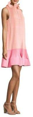 Tibi Color Block Pleated Dress