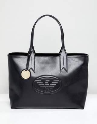 Emporio Armani Signature Zip Tote Bag