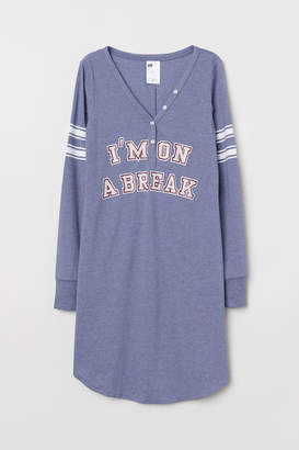 H&M Jersey Nightgown - White