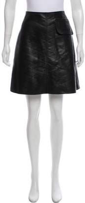 Louis Vuitton Leather Mini Skirt w/ Tags