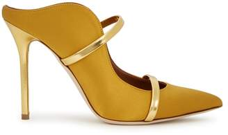 Malone Souliers Maureen 100 Yellow Satin Mules