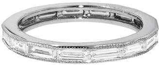 Couture Sethi Thin Diamond Baguette Ring - White Gold