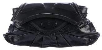 Zac Posen Pleated Leather Clutch