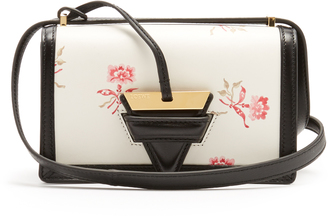 Barcelona floral-print leather cross-body bag