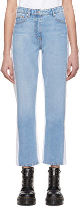 Kenzo Blue and White Slim Boyfriend Jeans