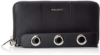 Moussy (マウジー) - [マウジー] STRAP ROUND WALLET BIG EYELET ブラック