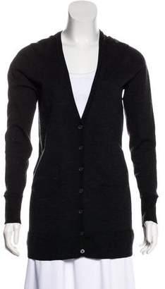 White + Warren Wool Long Sleeve Cardigan