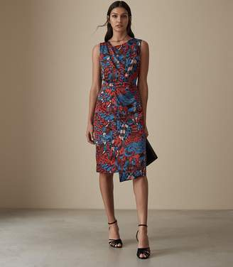Reiss DIONA CROSS BACK COCKTAIL DRESS Multi