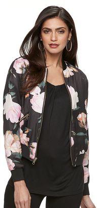 Women's Jennifer Lopez Floral Bomber Jacket $88 thestylecure.com