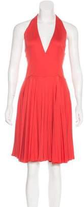 Ralph Lauren Purple Label Jersey Halter Dress