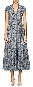 Zac Posen Women's Floral Cotton Poplin Dress - Blue Pat.