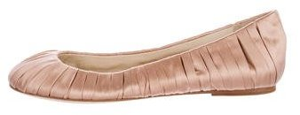 Vera Wang Lavender Label Pleated Round-Toe Flats