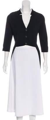 Chanel High-Low Knit Cardigan