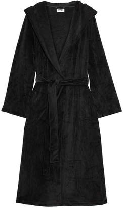 DKNY Elevated Leisure Velour Robe - Black