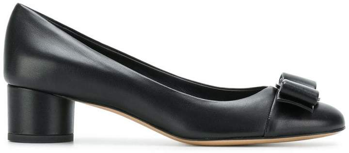 Salvatore Ferragamo leather Vara bow pumps