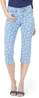 NYDJ High Waist Seastar Print Stretch Crop Jeans