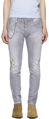 DSQUARED2 Grey Skater Jeans